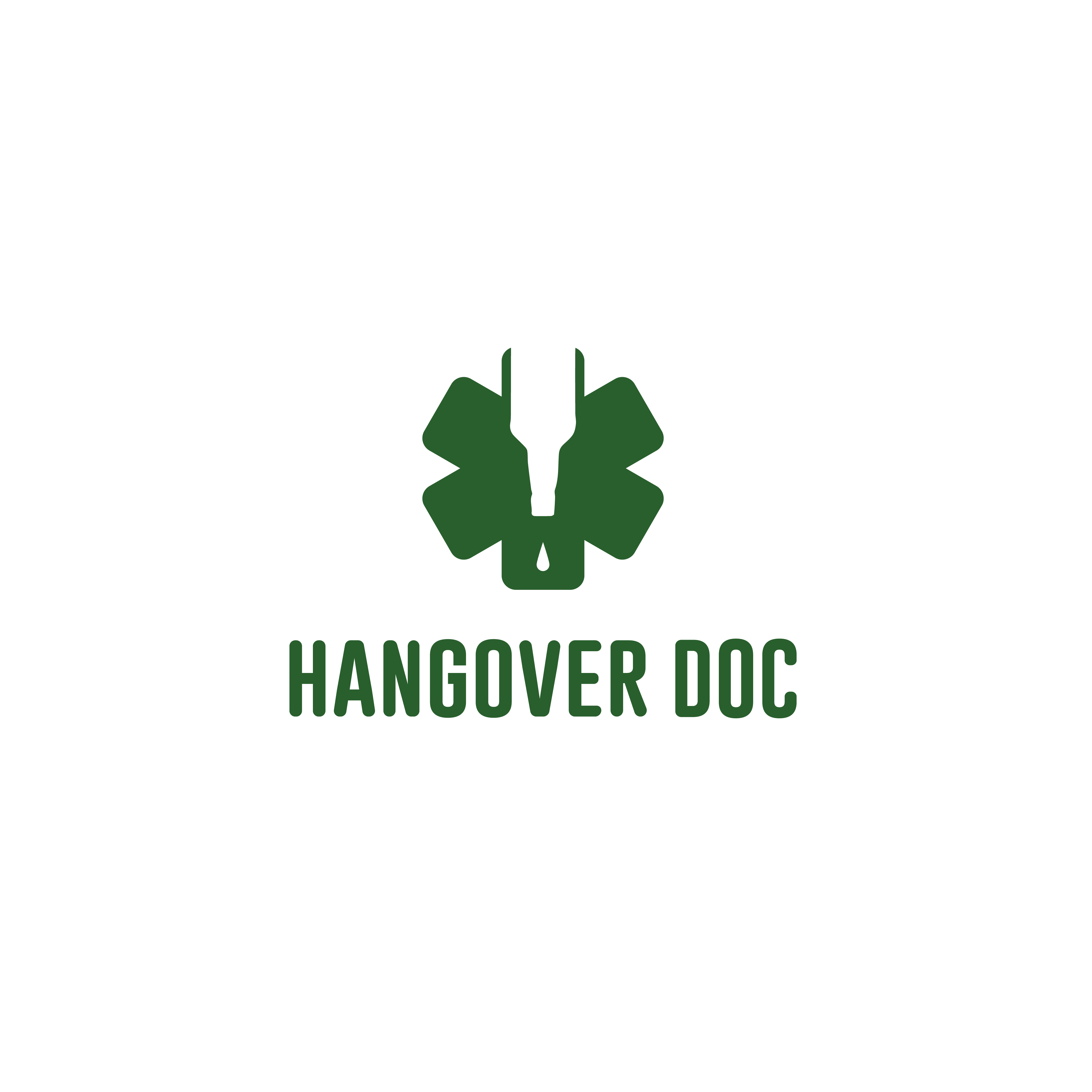 Logo for the Hangover Doc. Berlin startup from renowned doctors.