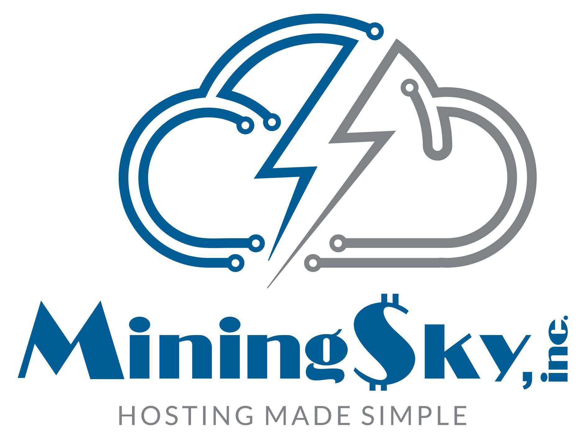 "Design New Publicly Traded Company LOGO! ""MiningSky"" Cloud Hosting Block-Chain Power Company Logo!"