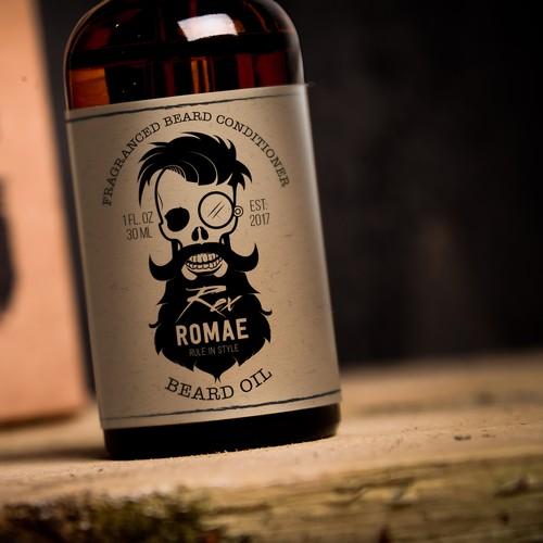 Vintage Beard Oil Label