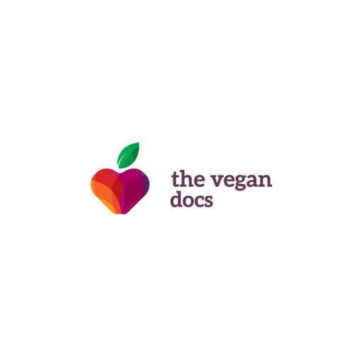 Heart-Apple Logo for a vegan based food - fitness.