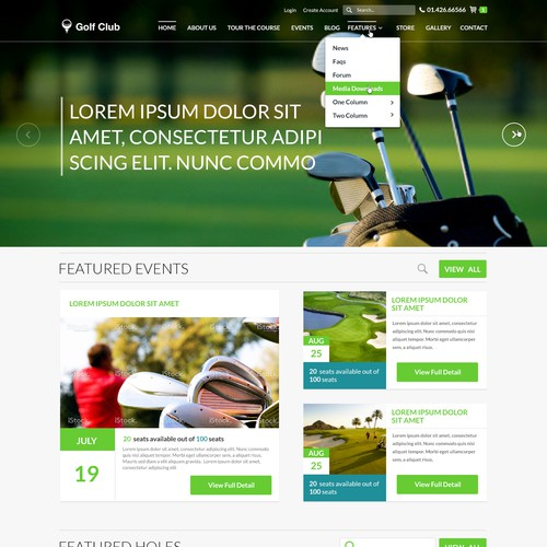 Design a Golf Club Website Template!