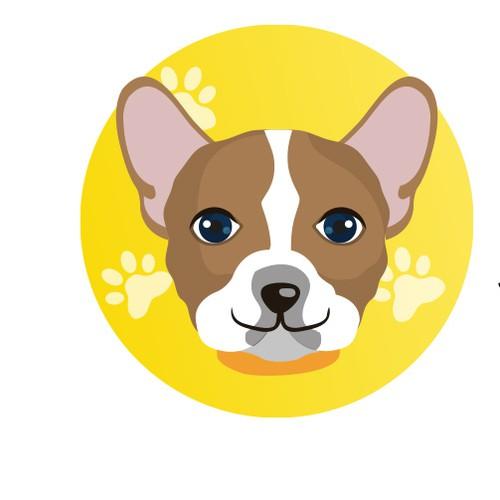 Fun Playful Mascot Logo Concept For Dog Breeder