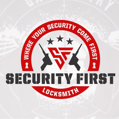 Strong Logo concept for Security First Locksmith