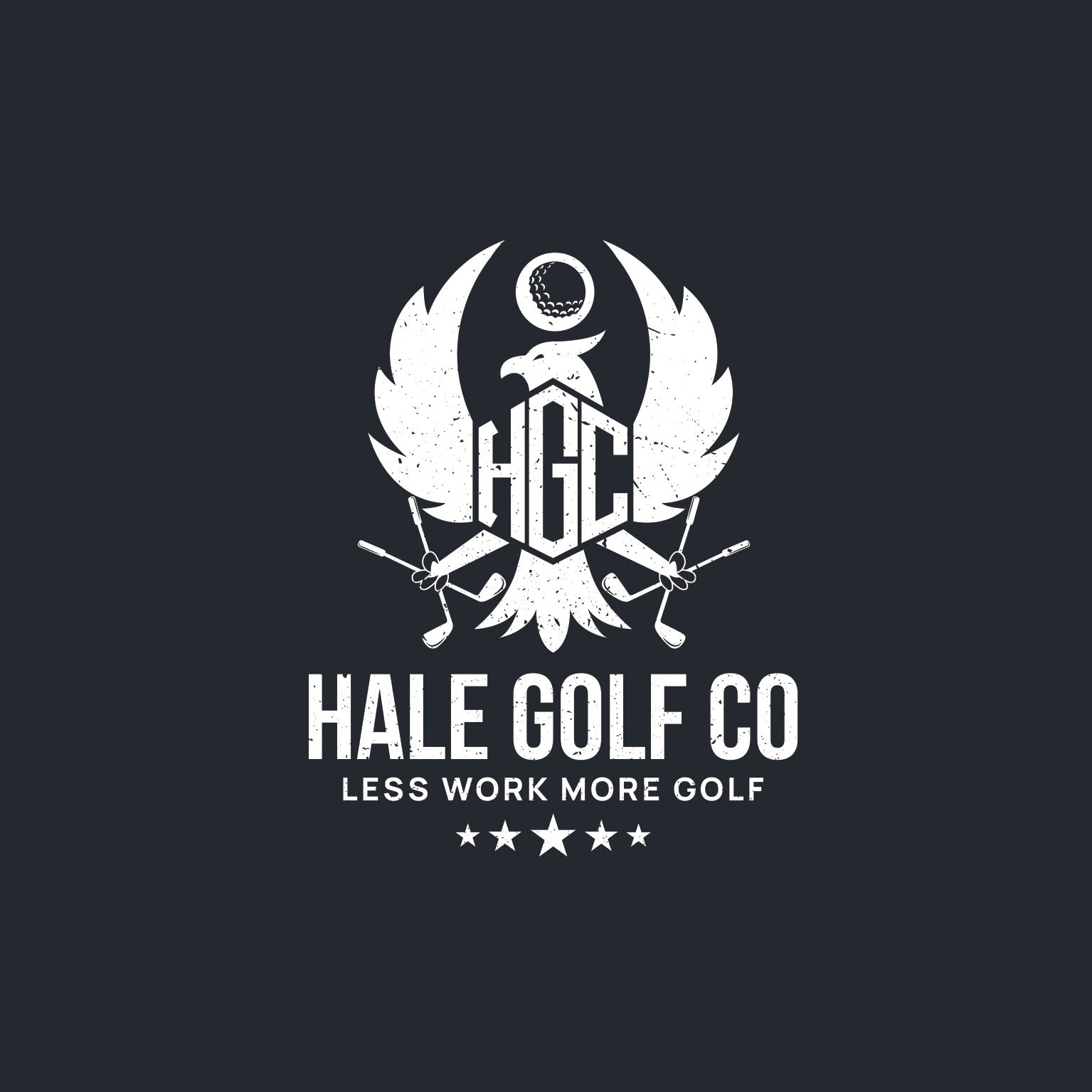 Need a Patriotic/ Blue Collar Type  Logo for a Golf Apparel Company