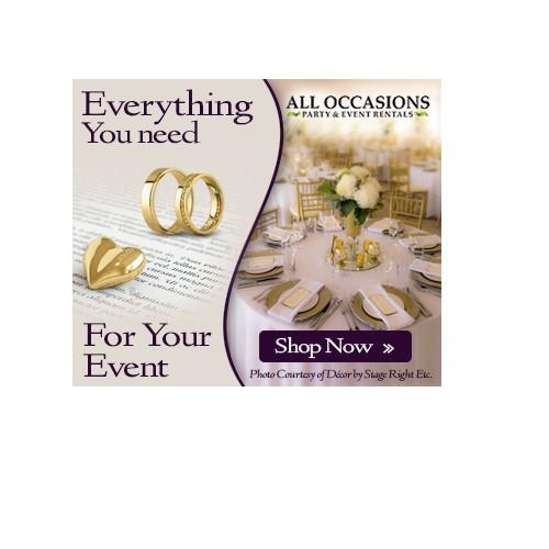 Wedding Rental Company Banner