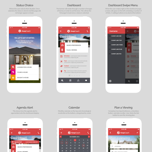 iPhone App Design for Property Agency