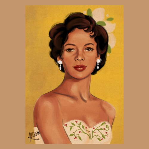 Vintage pin up style illustration