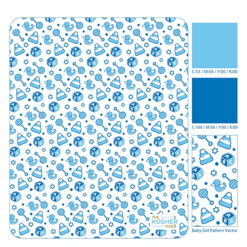 Baby Boy Pattern Vector