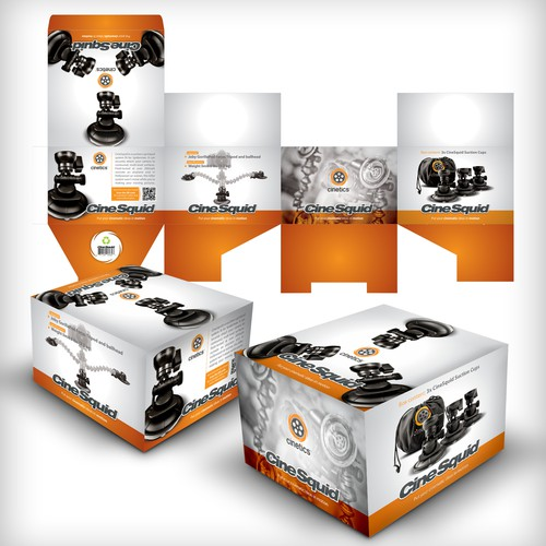 Create the next product packaging for Cinetics