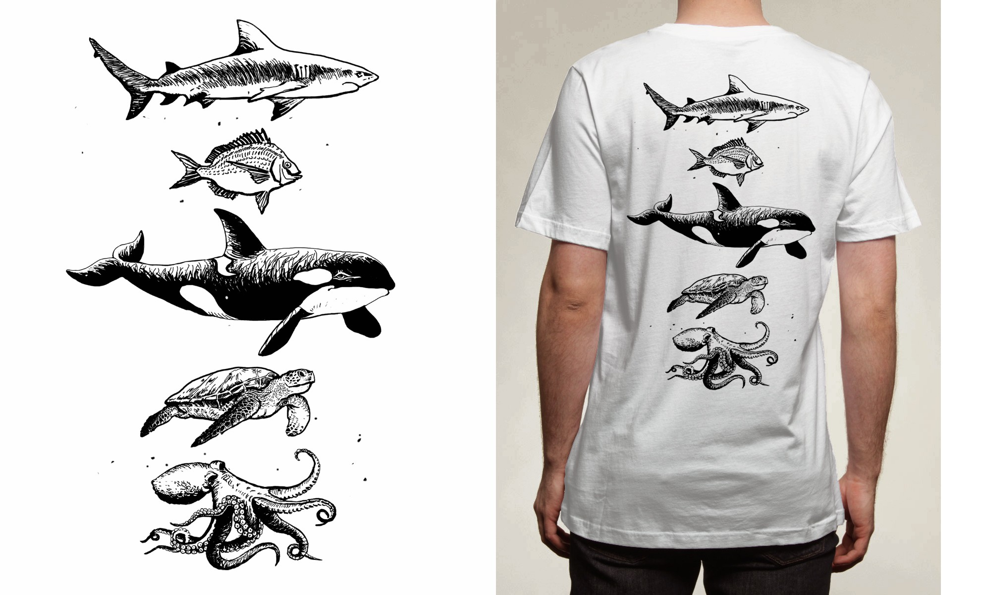 Design for back of T-shirt