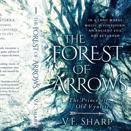 The Forest of Arrows by V. F. Sharp - bookcover design