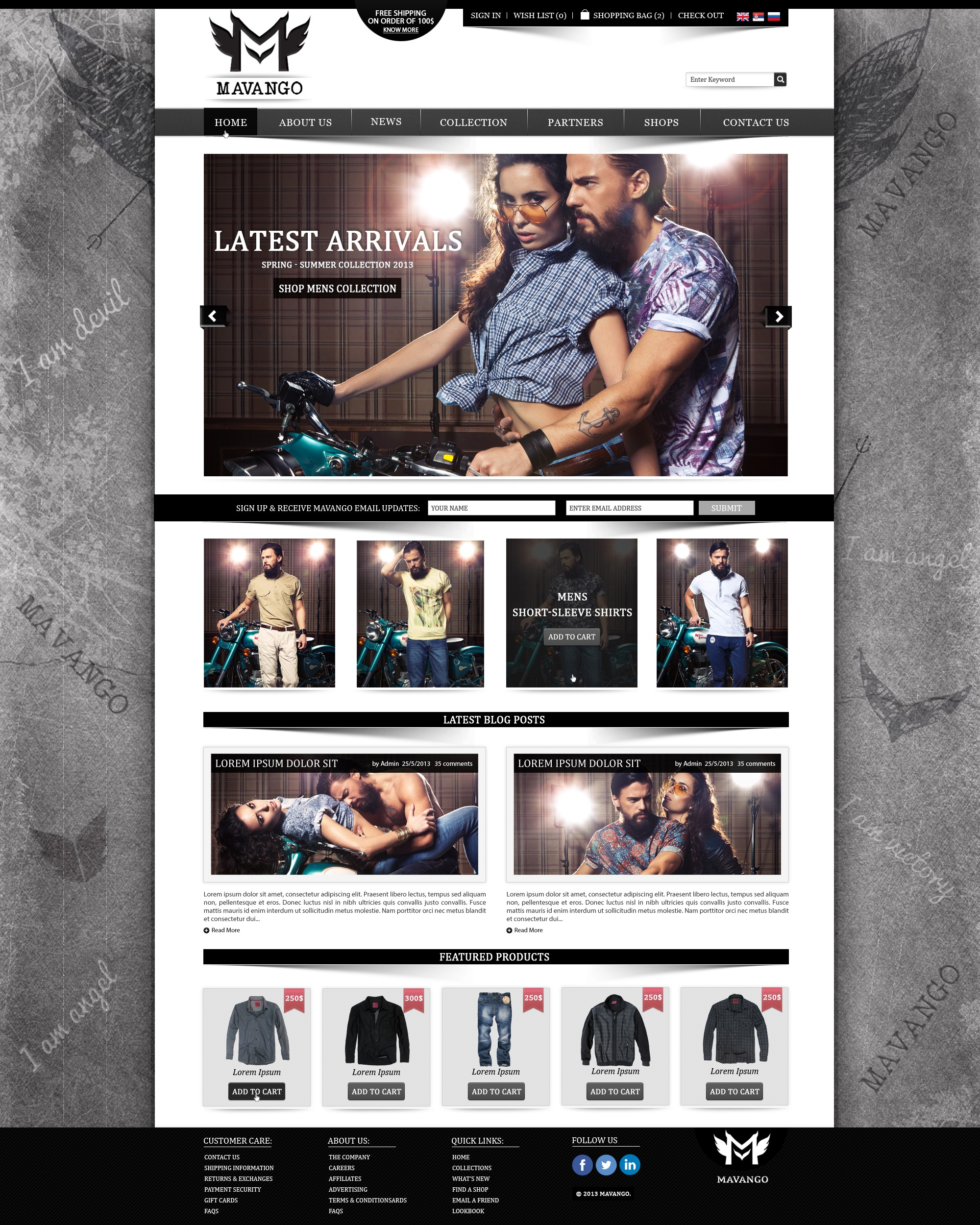 Create the next website design for www.mavango.com