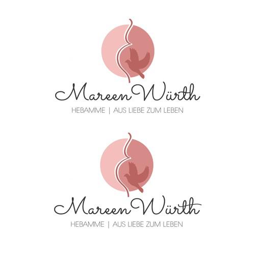 Liebevolles, weibliches Logo für eine Hebamme