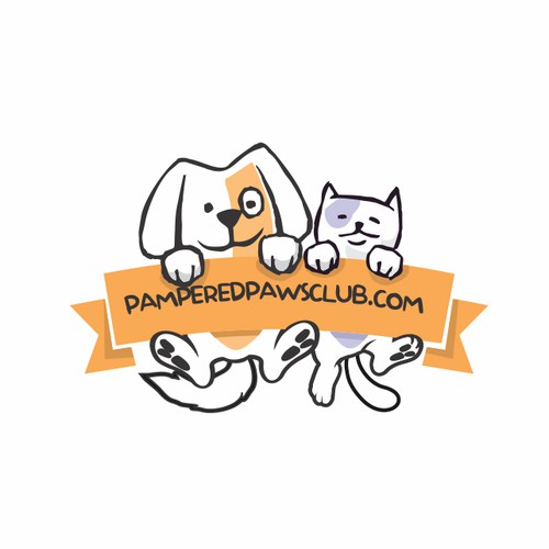 Pampered paws club logo
