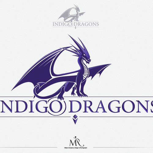 Create a capturing logo for software company Indigo Dragons!