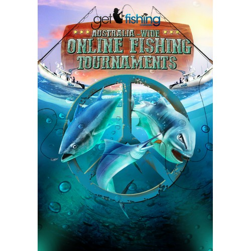 Create a remarkable fishing tournaments illustration for Get Fishing!