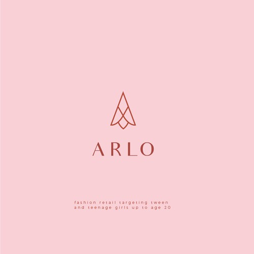 Simple line art Logo for Arlo.