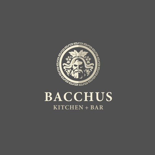 Greek with style logo for Bacchus Kitchen Bar