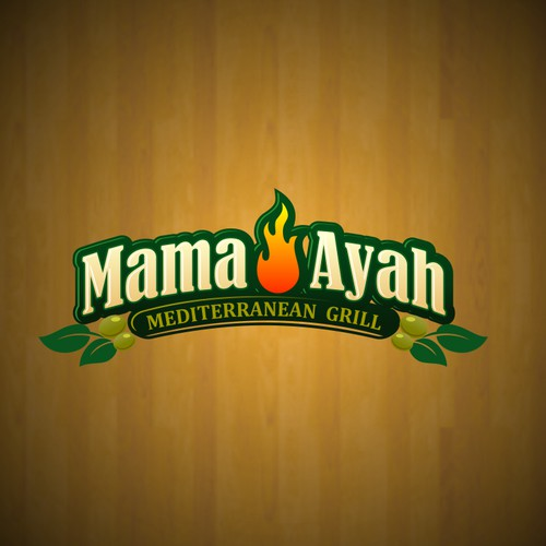 MAMA AYAH  Mediterranean Grill needs a new logo and business card