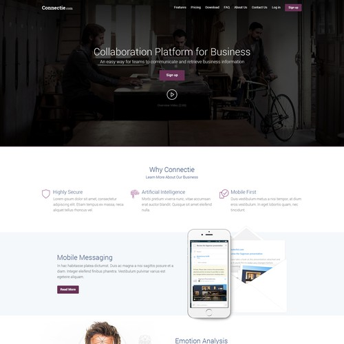 Connectie Landingpage Design