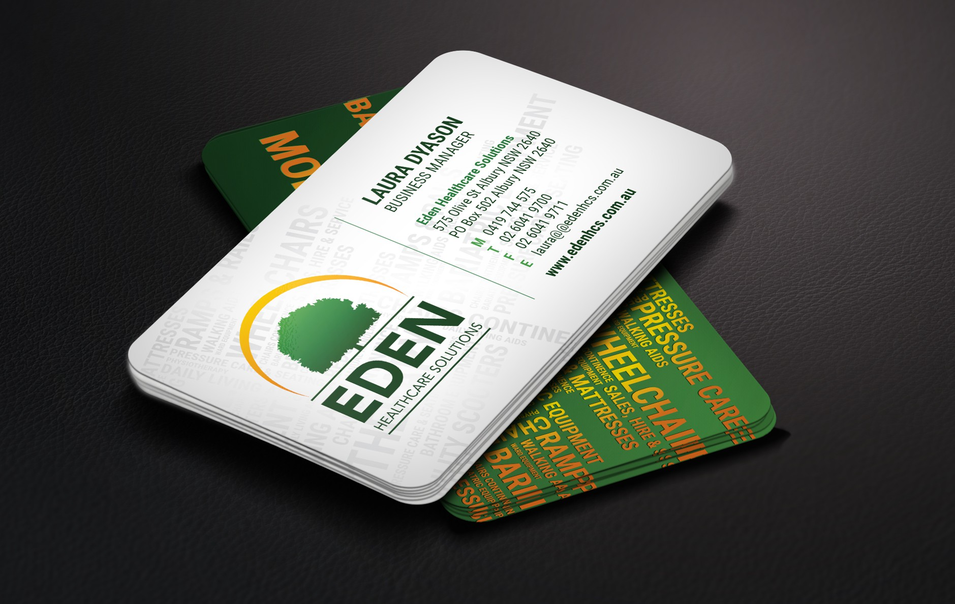 1 x Business Card Design (final files for 9 different staff names)