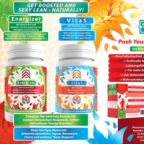 Health supplement designs
