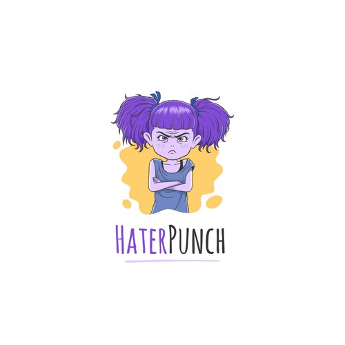 Illustration Logo for HaterPunch