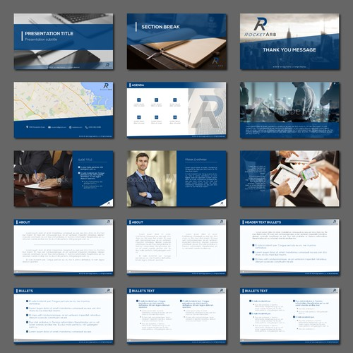 PowerPoint presentation template for tech company