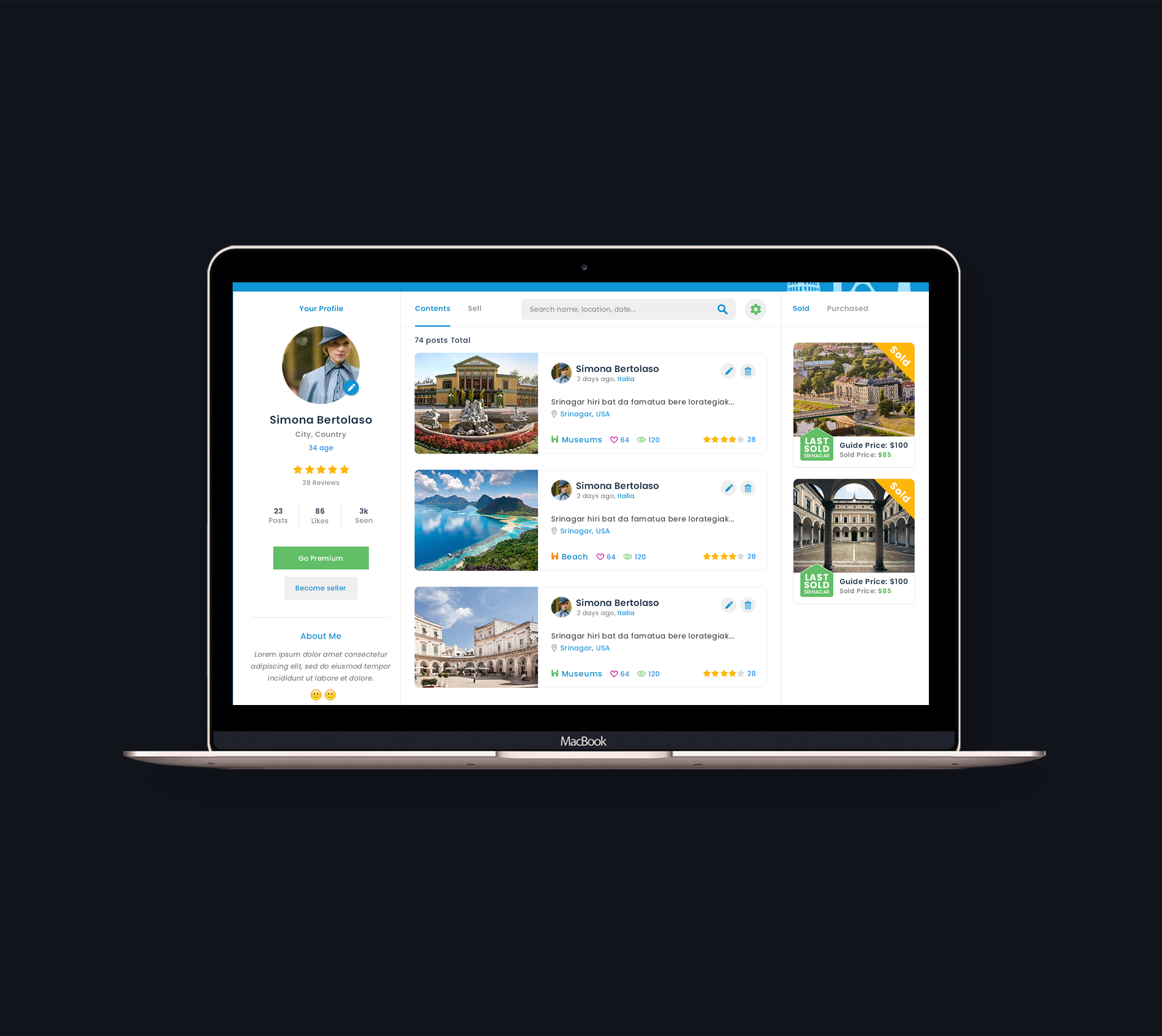 Restyling Home Page