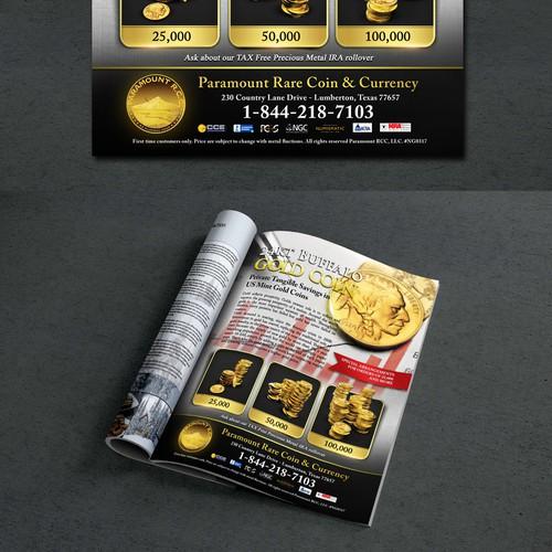 Magazine ad page design