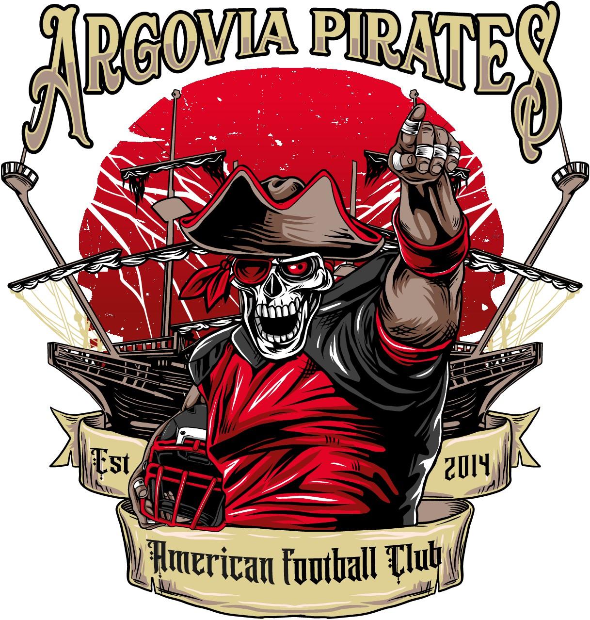 Jubiläum Bild American Football Club Argovia Pirates für Textilien
