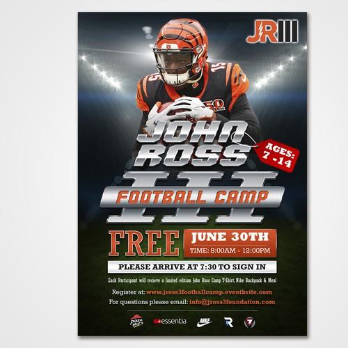John Ross III Football Camp Flyer