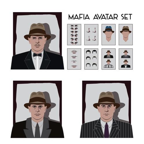 Mafia avatar set for game app