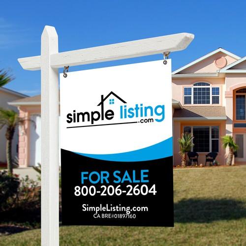 Design a Modern FOR SALE Real Estate Sign