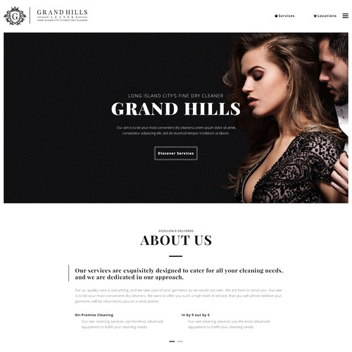 Website design for a Grand Hilles Cleaners