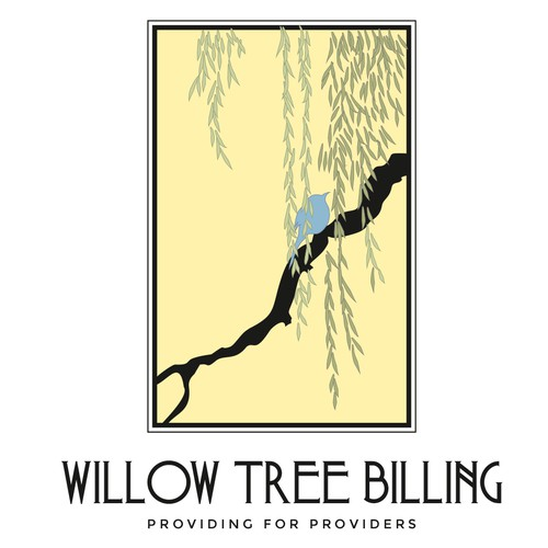 Be bright, be bold, be complex, be yourself.  Create Willow Tree Billing's logo!