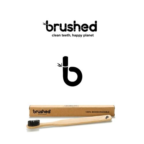 Minimalistic logo for bamboo toothbrush company.