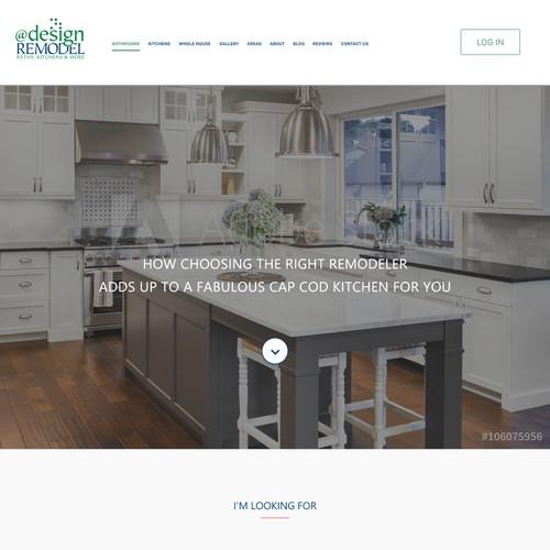 Landing Page for @designREMODELE