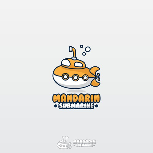 cartoon submarine logo for mandarin submarine