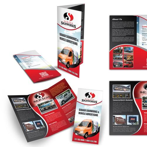 Create the next brochure design for Sebago Signworks