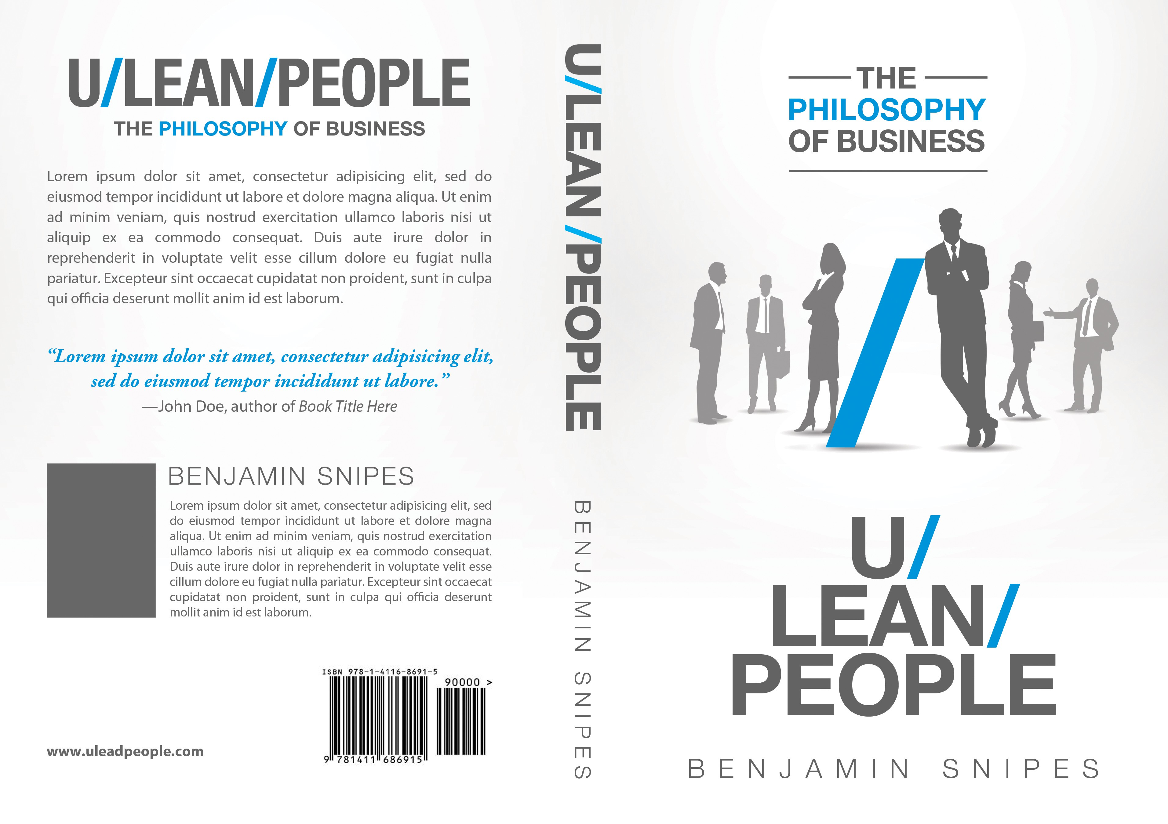"""Book Cover for """"U/Lean/People: The Philosophy of Business"""""""