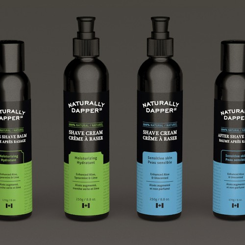 Packaging design for successful men's brand