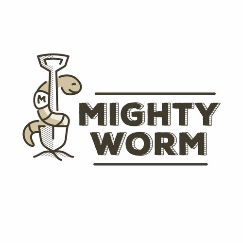 Funny concept for a worm humus company
