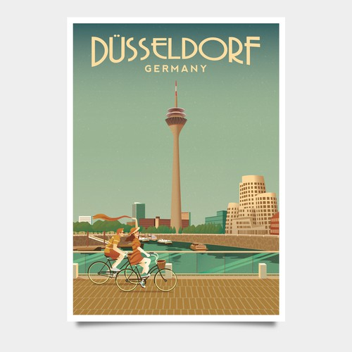 Dusseldorf Vintage Poster