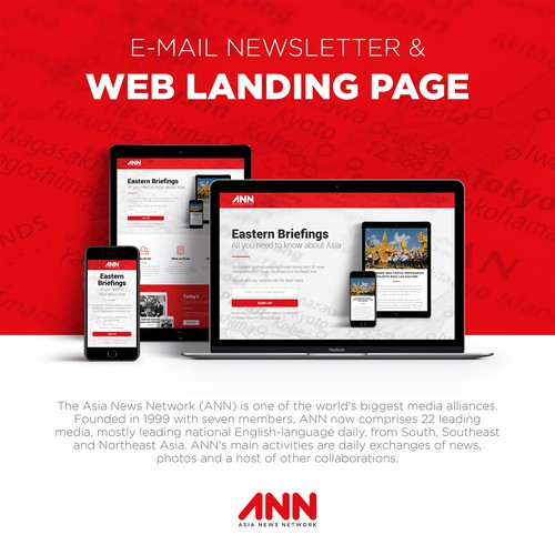 E-mail Newsletter & Web Landing Page