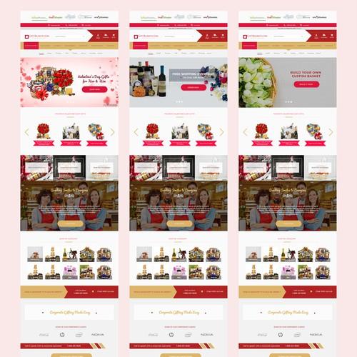 Major Website Re-design Concept for GiftBasket