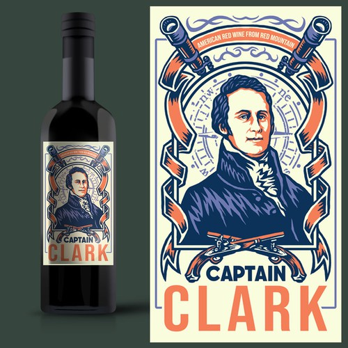 Bold American wine label with the spirit of adventure
