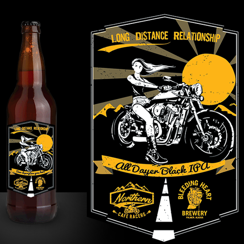 Beer label design: Northern Cafe Racers partners with Bleeding Heart Brewery