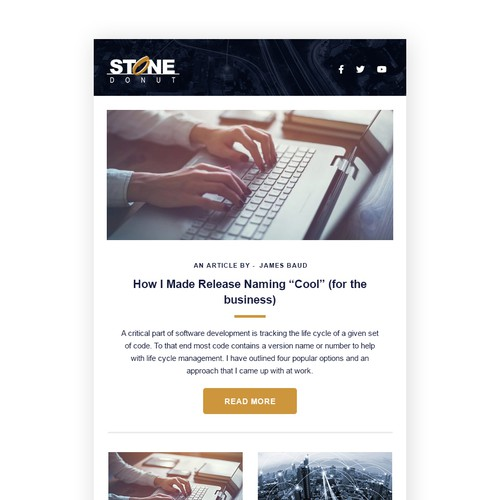 Newsletter Template for Tech Consulting Company