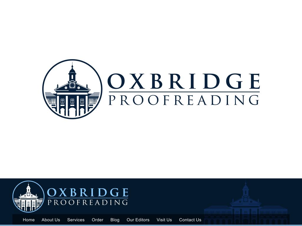 Create the next logo for Oxbridge Proofreading